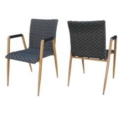 Wicker Dining Chairs Indoor Home Theater Chair Repair Modern Contemporary Allmodern Crewe Patio Set Of 2