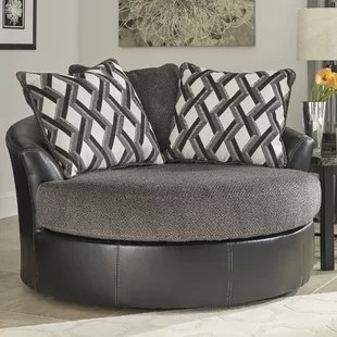 oversized swivel chairs for living room shelby williams chair ashley wayfair thaler barrel