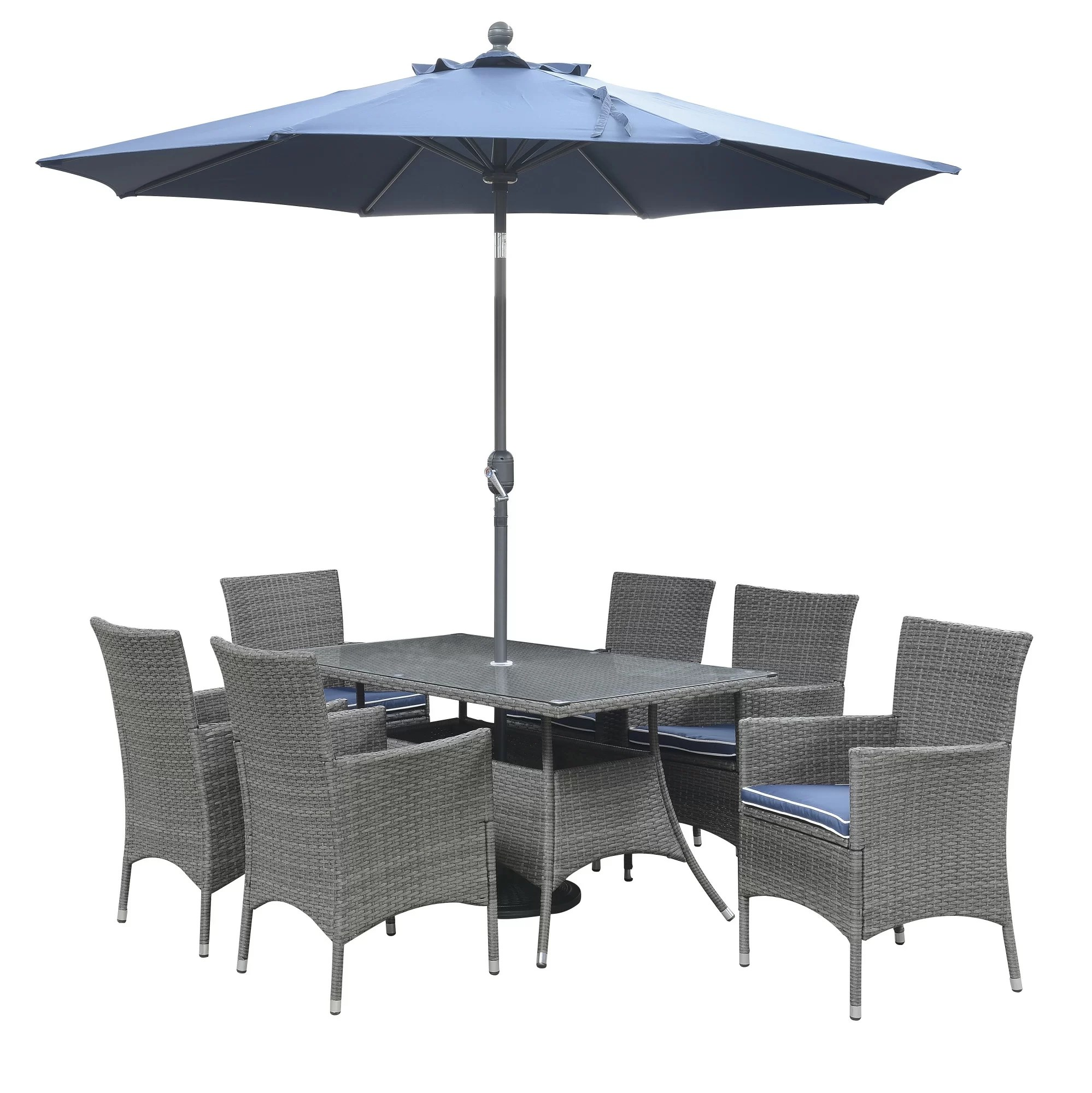 chair covers morecambe rent chairs and tables for cheap darby home co 7 piece dining set with cushions wayfair