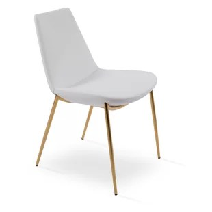 gold dining chairs heavy duty lift bariatric eiffel chair with legs wayfair classy upholstered