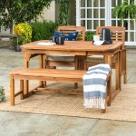 Joss Main Tim 4 Piece Extendable Patio Dining Table Set Reviews