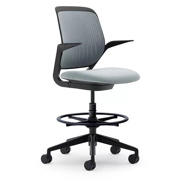 modern drafting chair wooden glider and ottoman steelcase cobi reviews wayfair