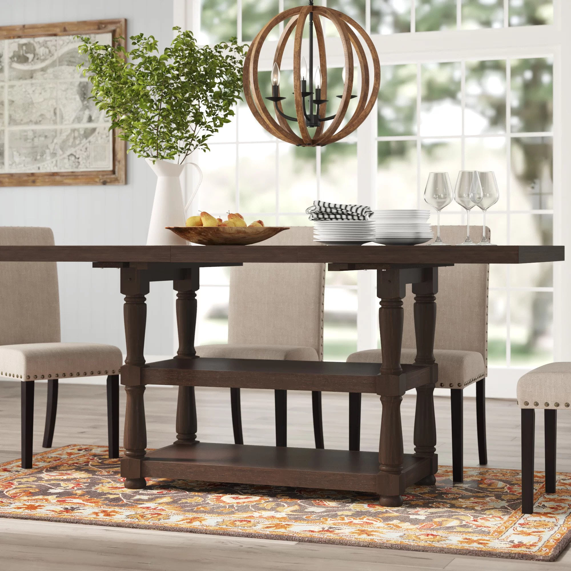 Broadway Counter Height Extendable Dining Table Reviews Birch Lane