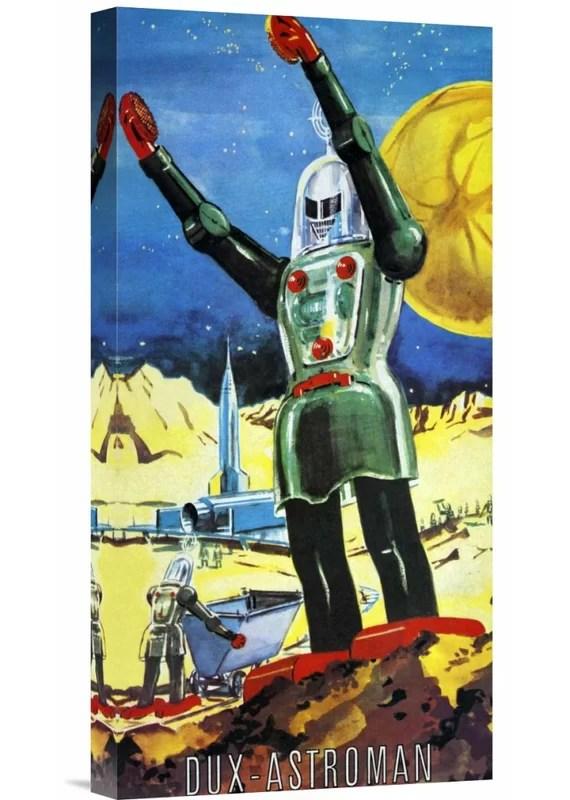 Dux Astroman by Retrobot Vintage Advertisement on Wrapped Canvas