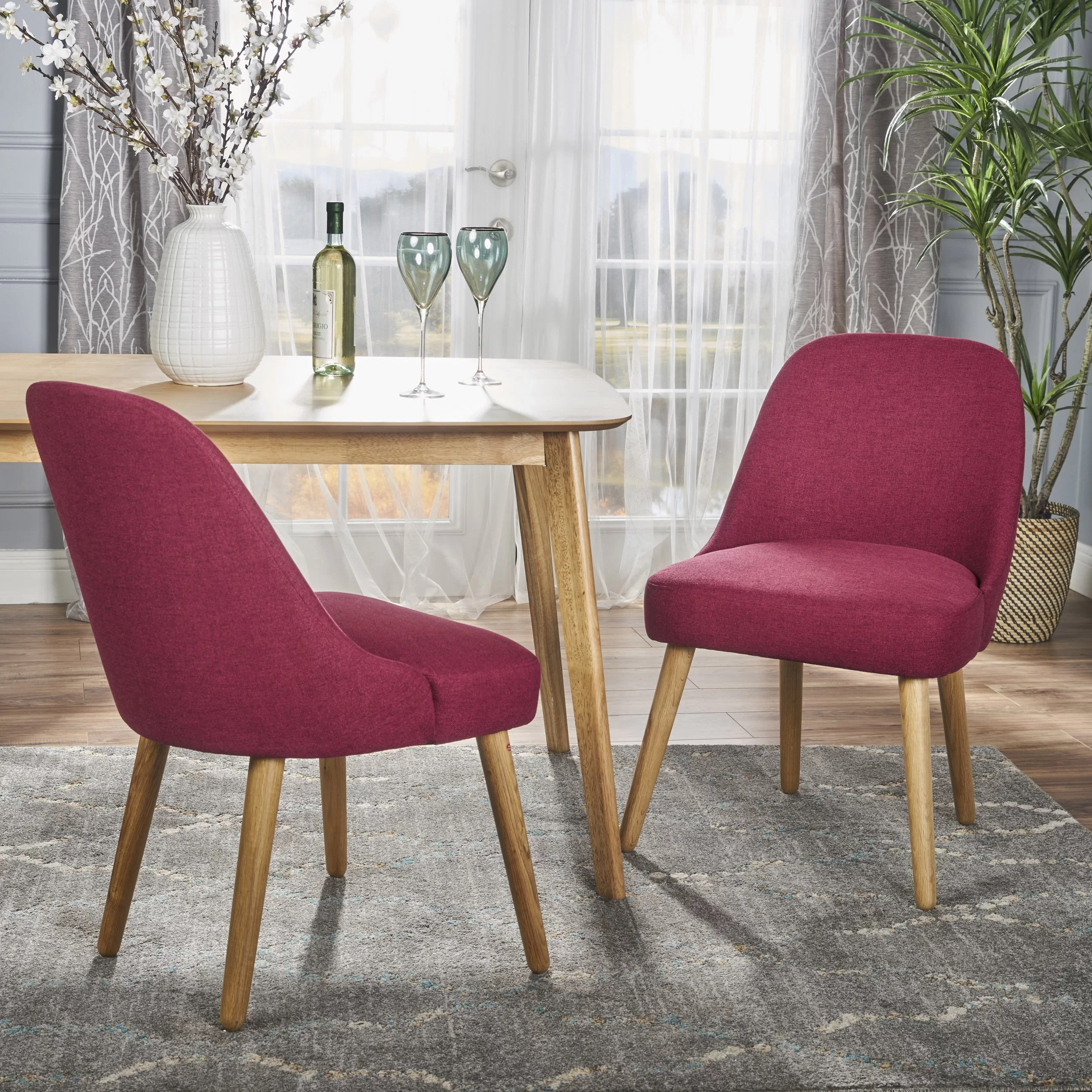 Red Upholstered Dining Chairs Bowyer Upholstered Dining Chair