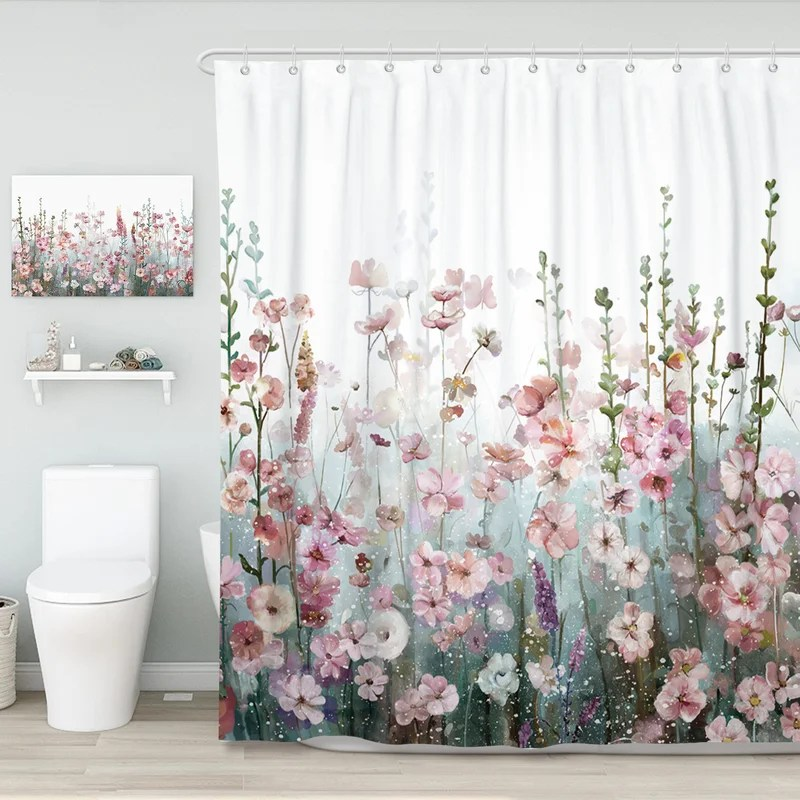 alyra floral single shower curtain hooks