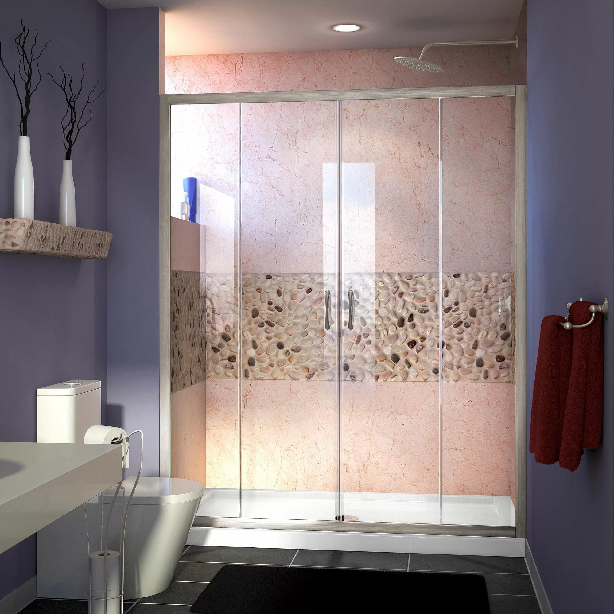 Visions 60 X 72 Double Sliding Semi Frameless Shower Door
