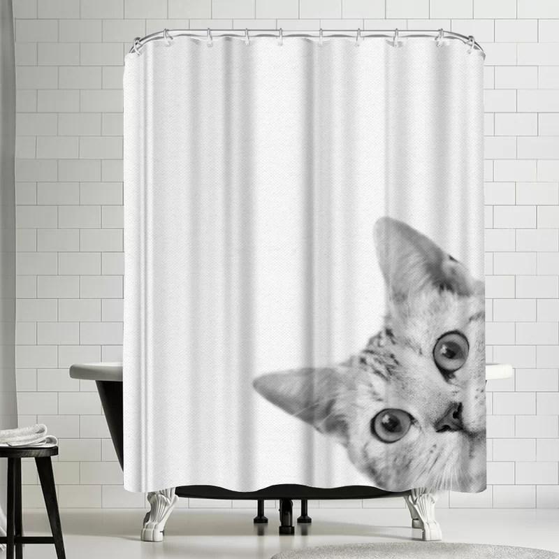 nauda cat shower curtain