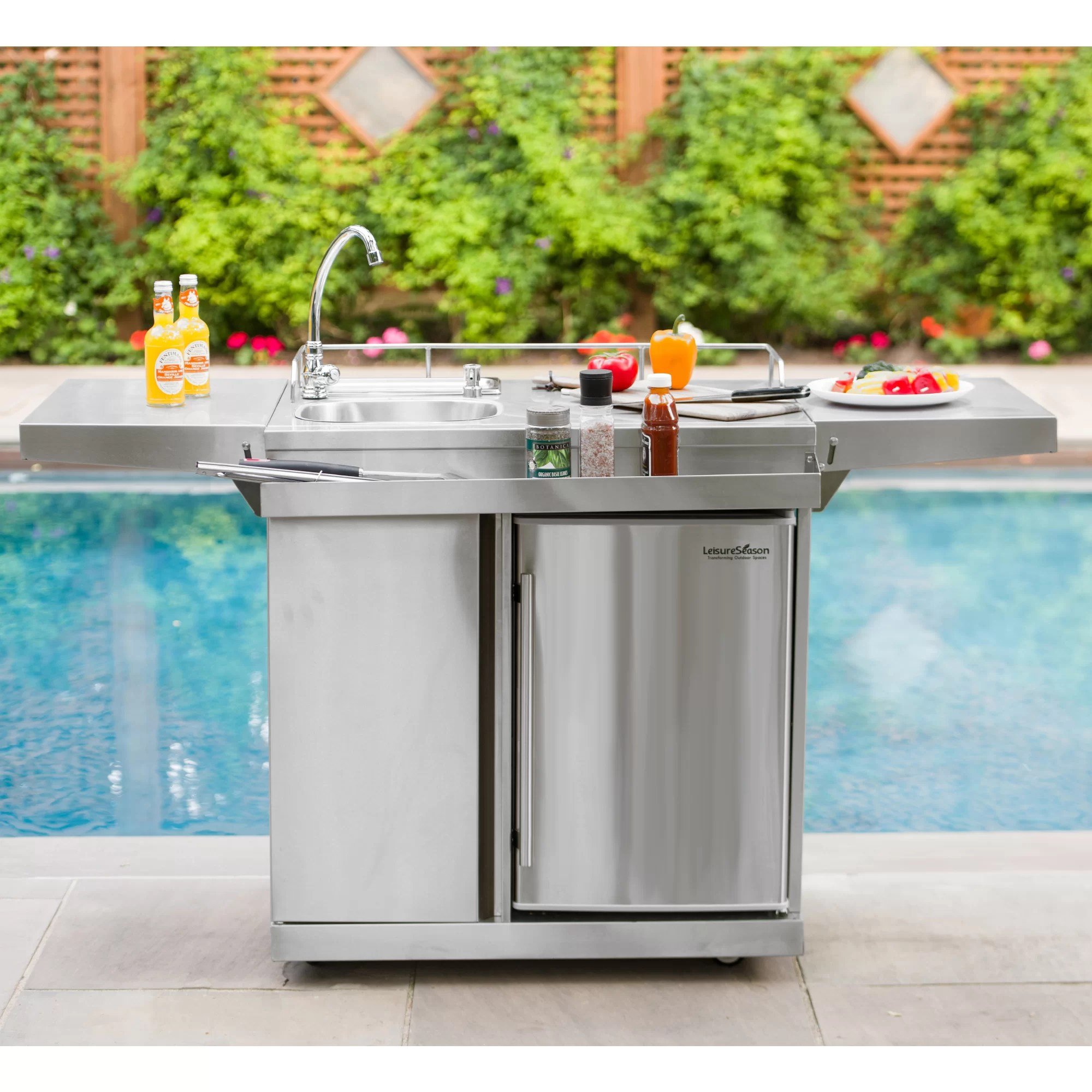 outdoor entertainment 62 stainless steel free standing outdoor sink