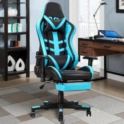 Recliner Gaming Chair Single Couch Ebern Designs High Back Racing With Lumbar Support And Footrest Wayfair