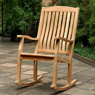 how to make a rocking chair not rock formica table and chairs patio gliders you ll love wayfair cynthia porch teak