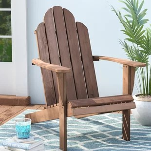 adirondack chair wood solid kitchen chairs you ll love wayfair knowlson