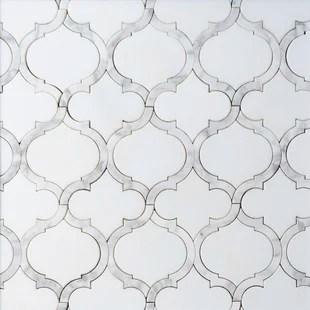5 x 5 marble arabesque mosaic wall floor tile