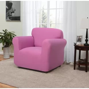 pink slipcover chair cube with tray slipcovers you ll love wayfair quickview