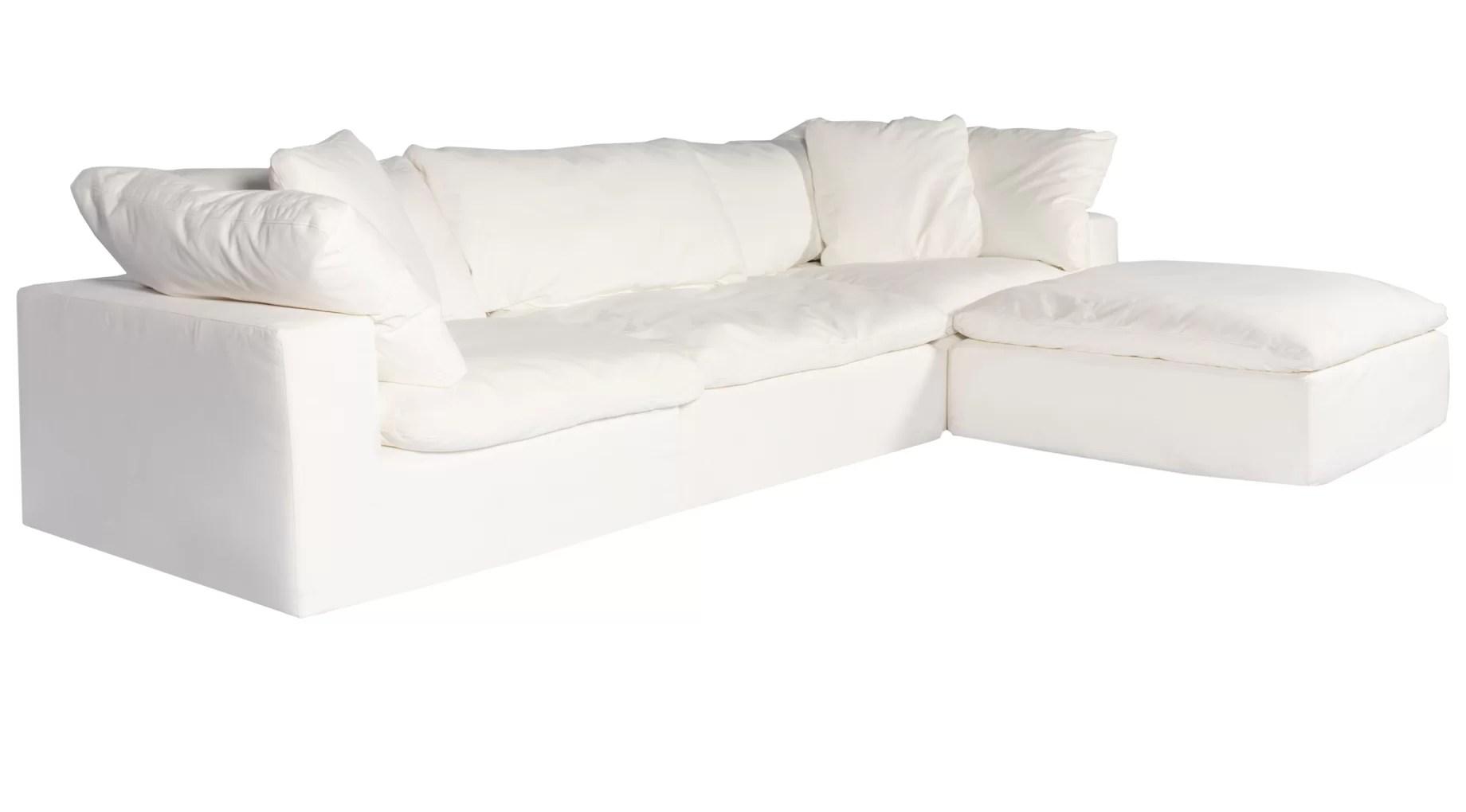 arden 132 right hand facing modular sofa chaise with ottoman