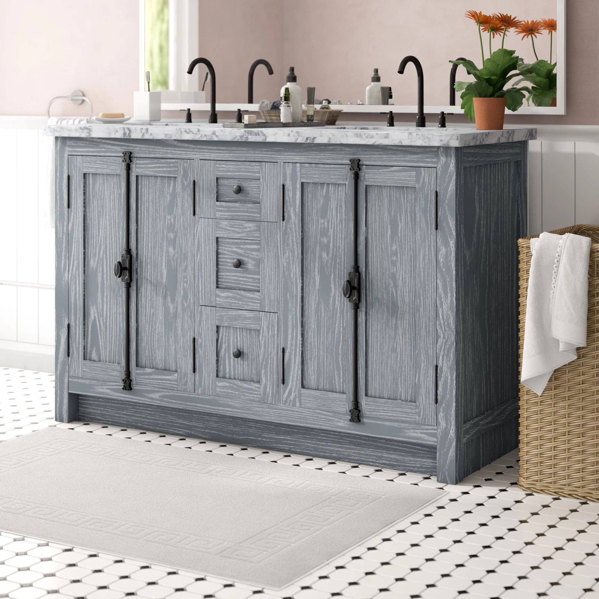 coby 55 double bathroom vanity set