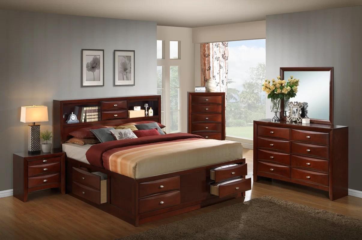 red barrel studio plumcreek platform 5 piece bedroom set & reviews