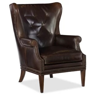 leather wingback chairs overstock outdoor accent you ll love wayfair quickview