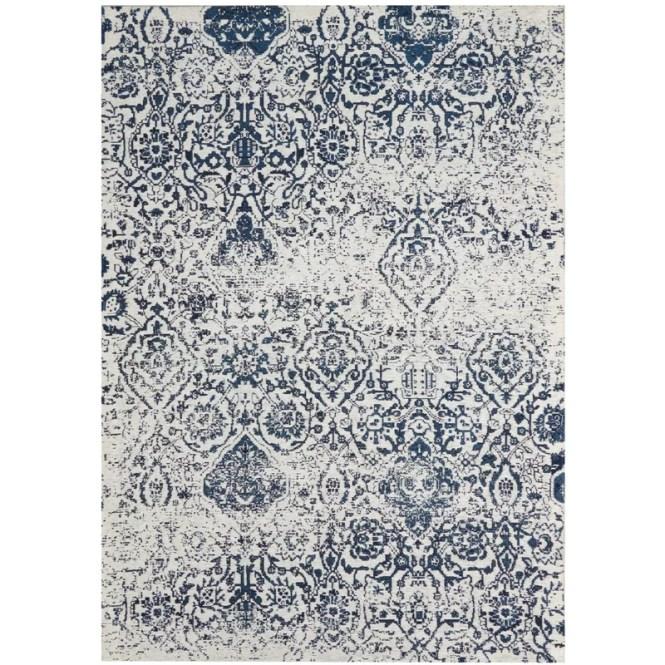 Orourke Ivory/Navy Blue Area Rug