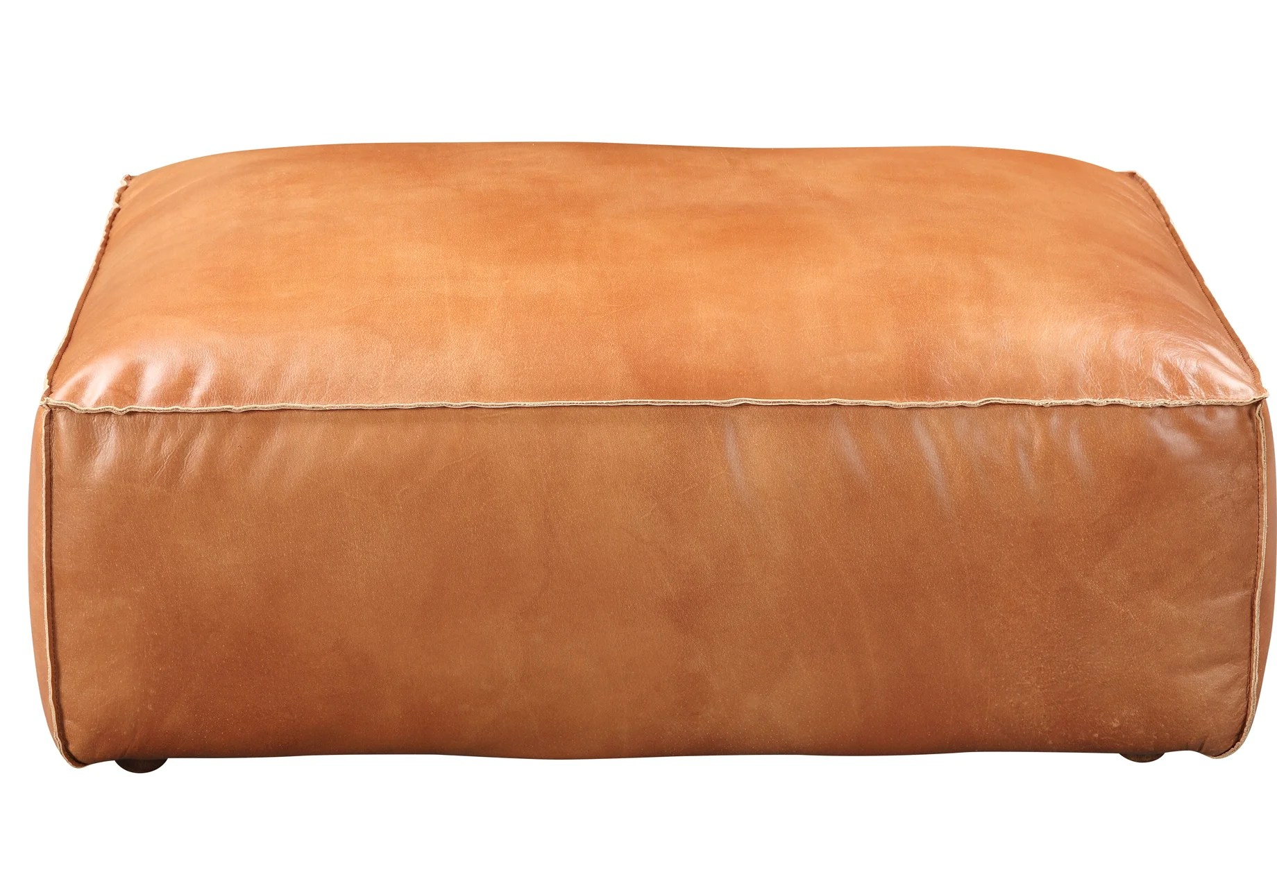 leather ottomans poufs free