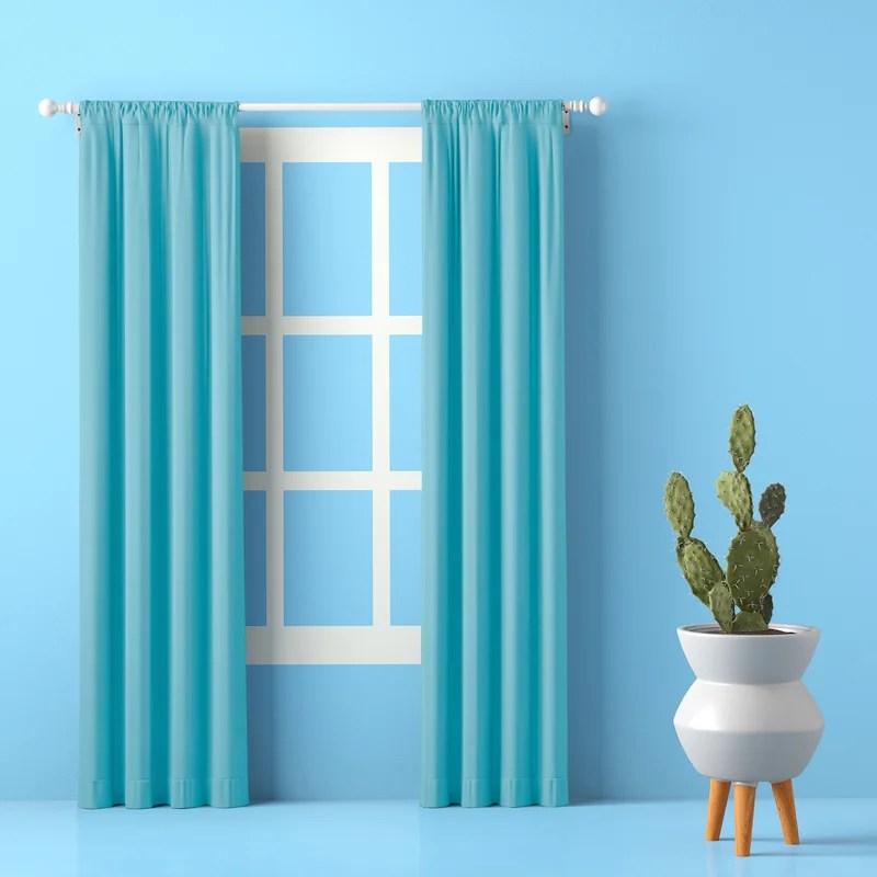 lochlan solid room darkening rod pocket curtain panels