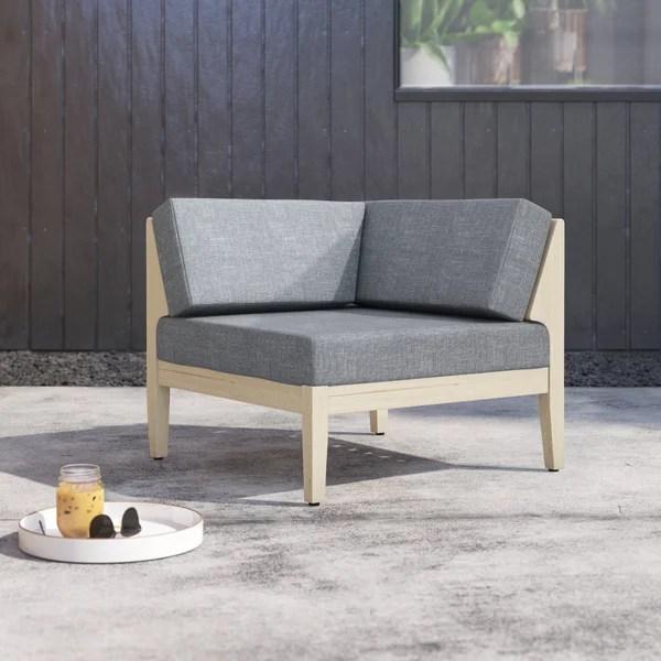 modern contemporary outdoor corner chair