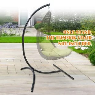 chair stand up trick pub style table and chairs hammock stands accessories you ll love wayfair bell hanging c frame swing holder metal