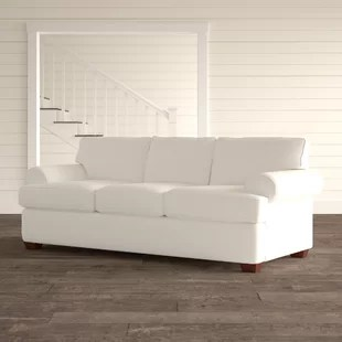 89 rolled arm sofa bed
