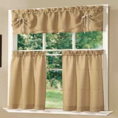 Kitchen Valences Wood Table Rustic Valance Wayfair Lucia And Tier Set