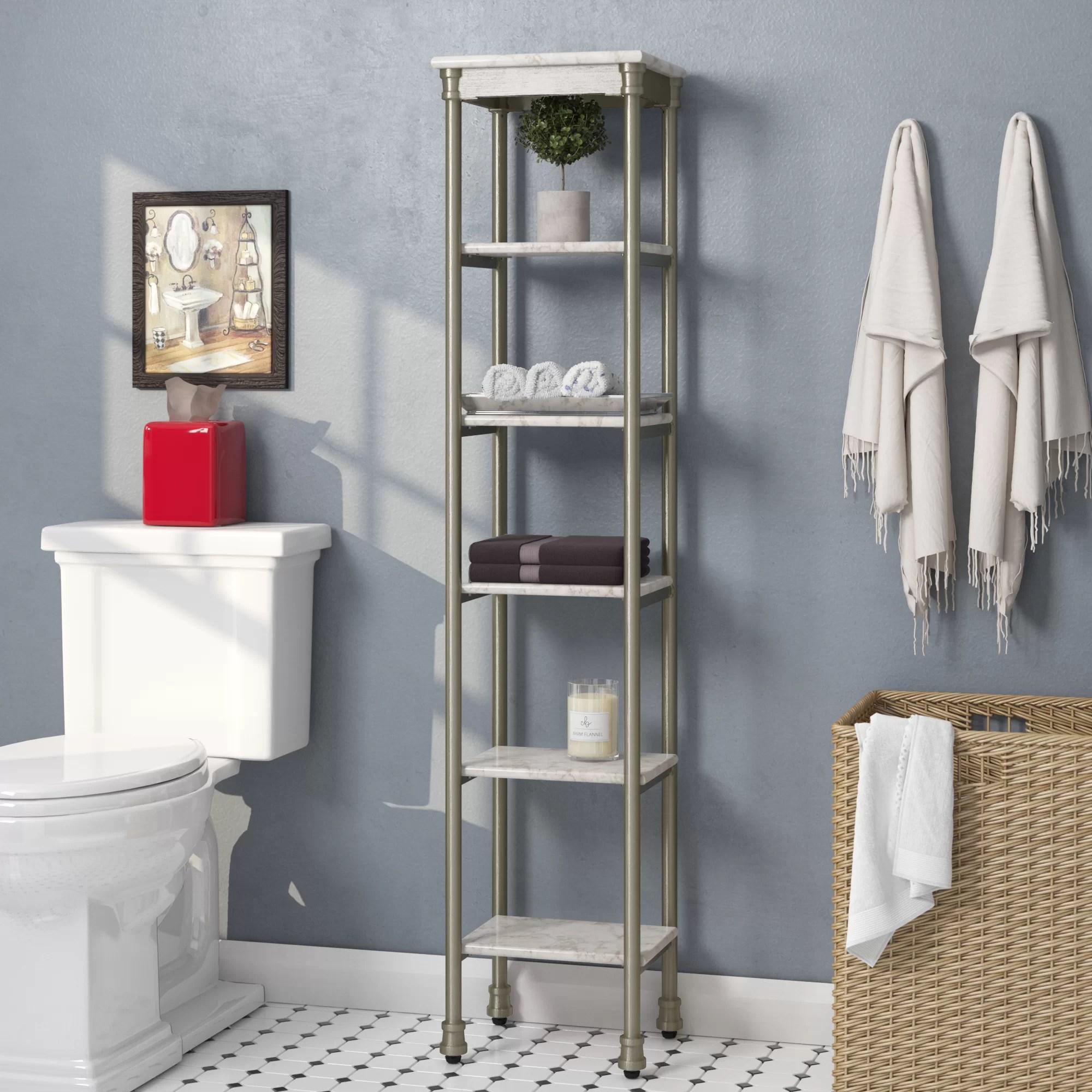 Beachcrest Home Nauman 13 W X 60 H Bathroom Shelf Reviews Wayfair