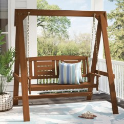 Hanging Patio Swing Chair White Directors Chairs Australia Porch Swings You Ll Love Wayfair Arianna Hardwood With Stand