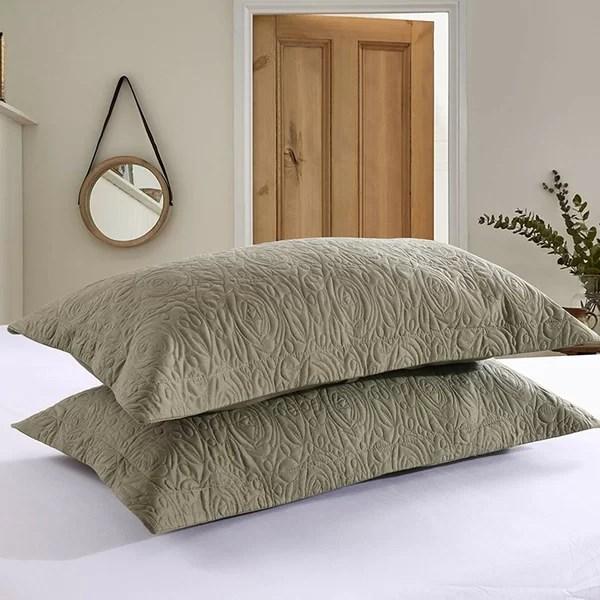 forest green pillow shams