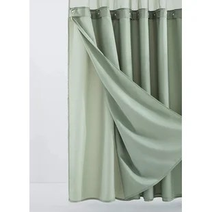 green shower curtains shower liners