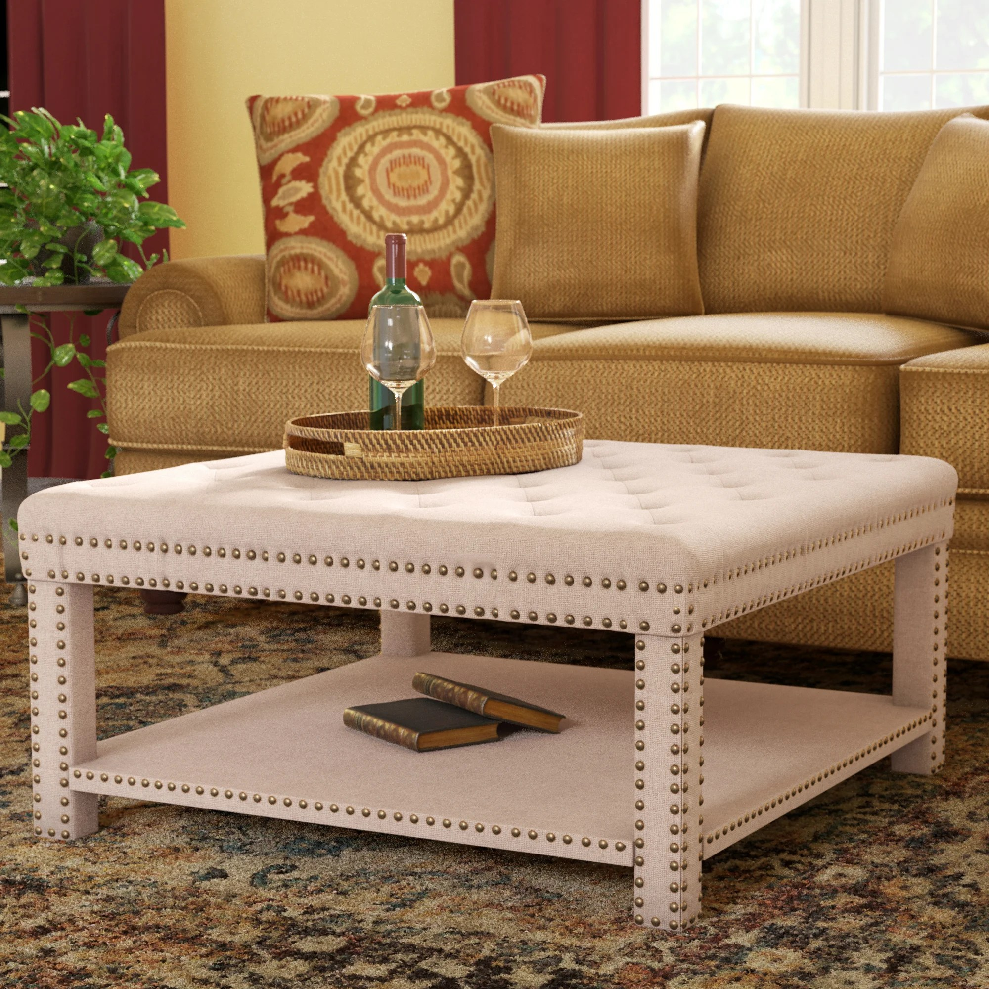 beige upholstered coffee tables you ll