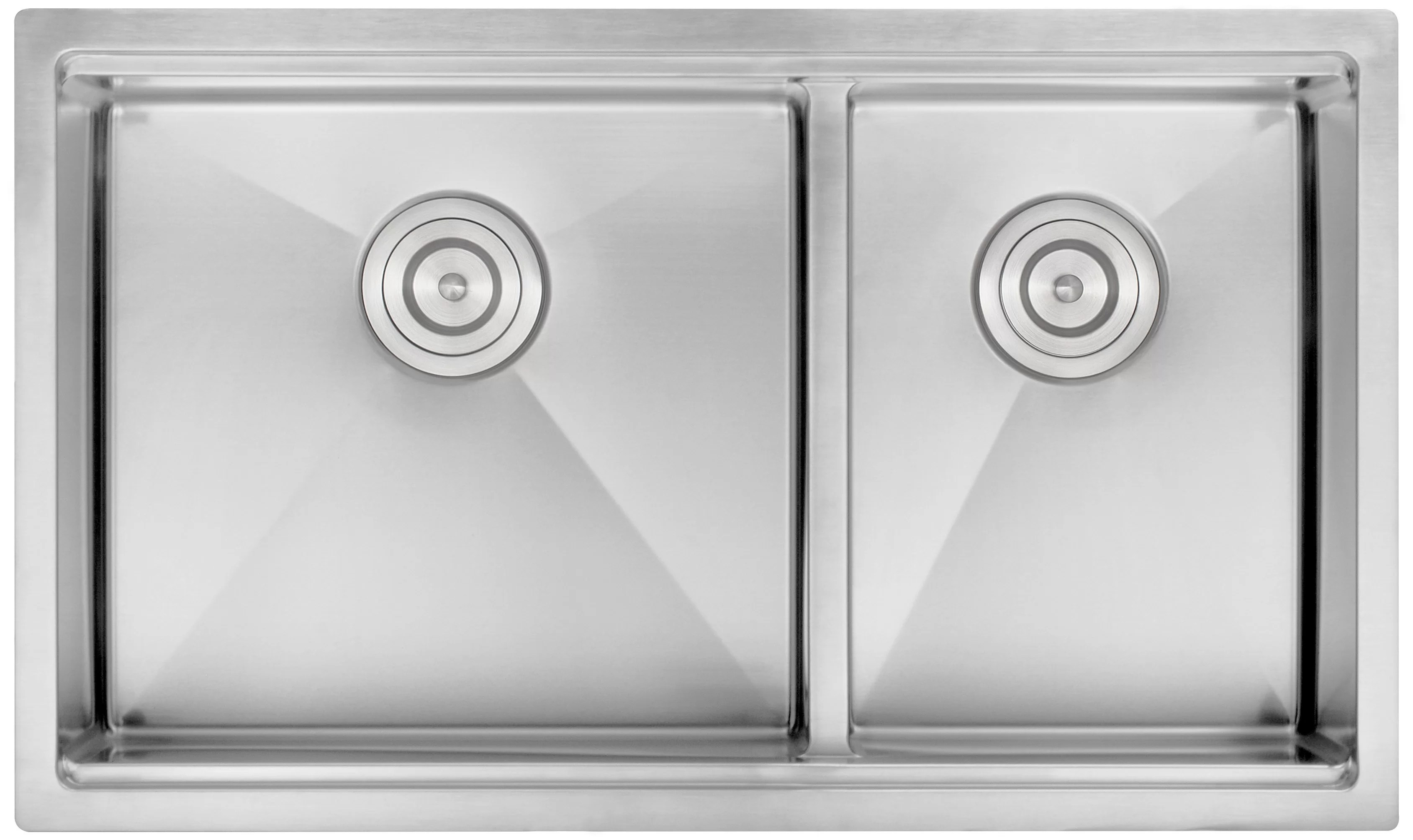 prestige series 32 l x 17 w double basin undermount kitchen sink with ledge and low divide