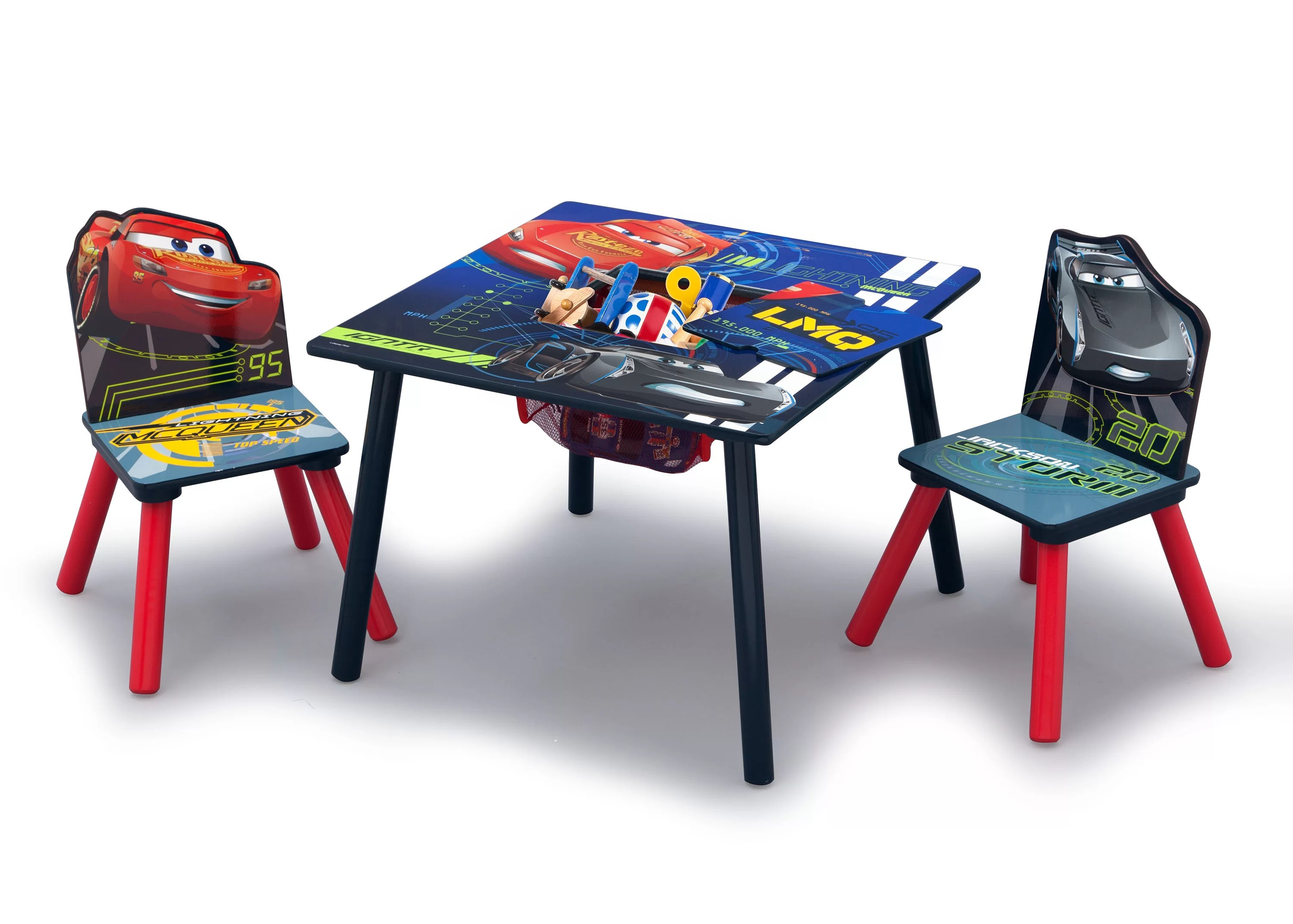kids chair set covers for the classroom delta children disney pixar cars 3 piece square table and wayfair