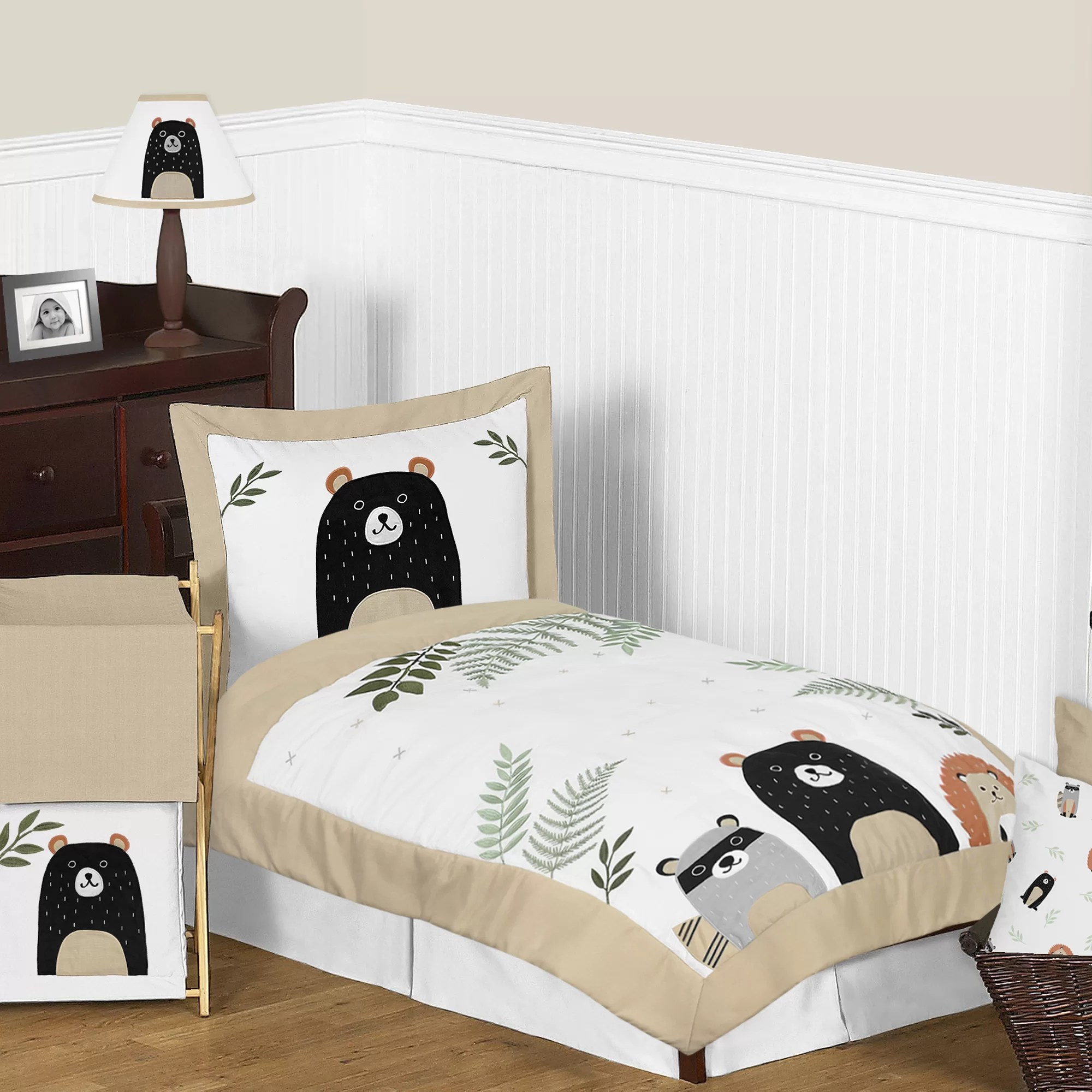 Sweet Jojo Designs The Woodland Pals 5 Piece Toddler Bedding Set Wayfair