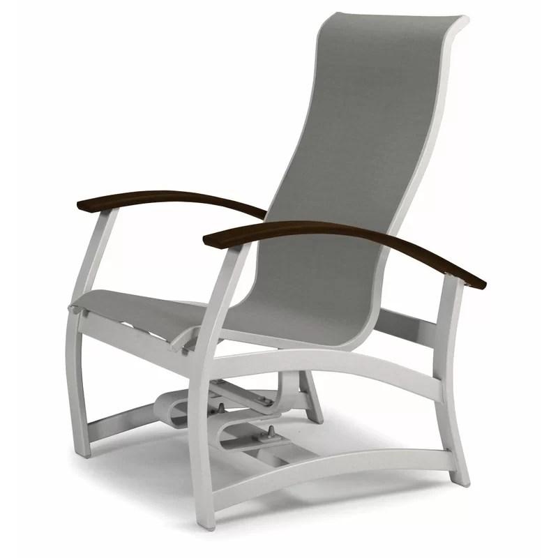 belle isle marine grade sling hidden motion chat swivel patio chair