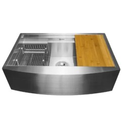 22 Inch Kitchen Sink Custom Cabinetry Farmhouse Wayfair 30 X 20 With Drain Strainer Tray And Cutting Board