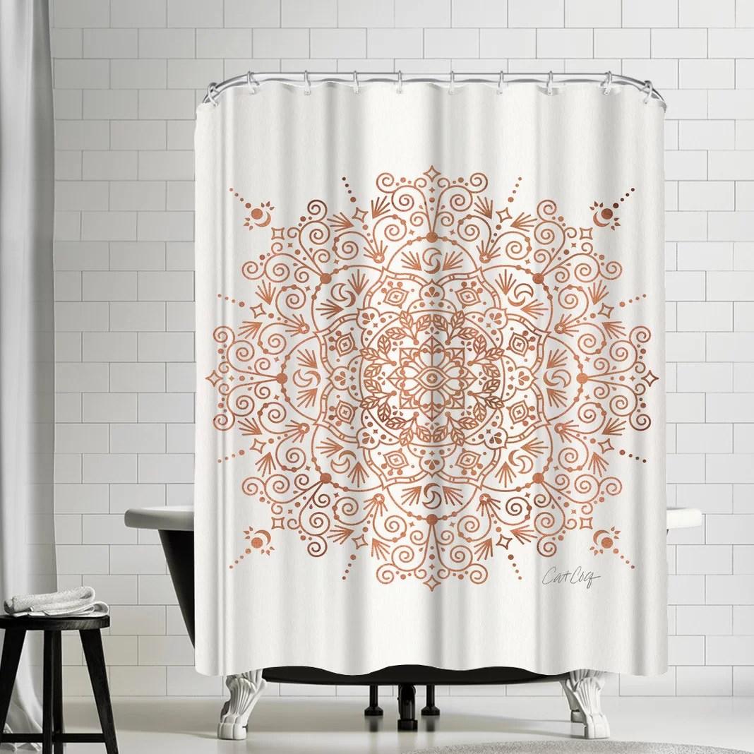 cat coquillette moroccan mandala shower curtain