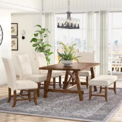 Dining Room Sets 6 Chairs Outdoor Chair Cushions At Lowes Piece Kitchen You Ll Love Wayfair Montcerf Set