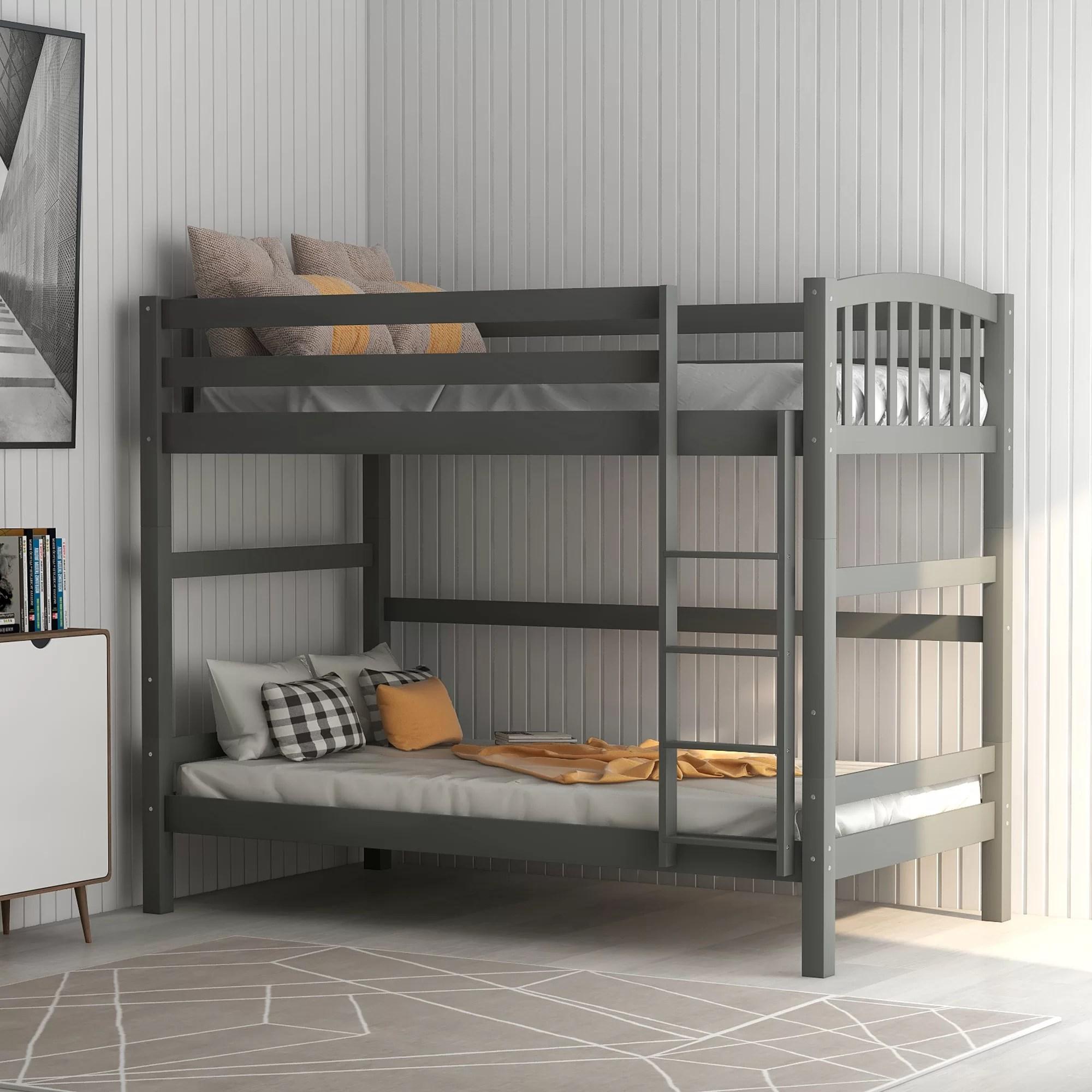 Harriet Bee Kelowna Twin Over Twin Bunk Bed Wayfair Ca