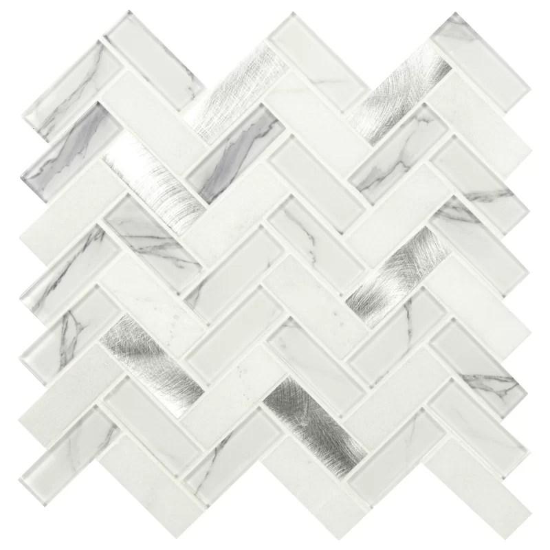 natural stone metal glass mosaic sheet tile