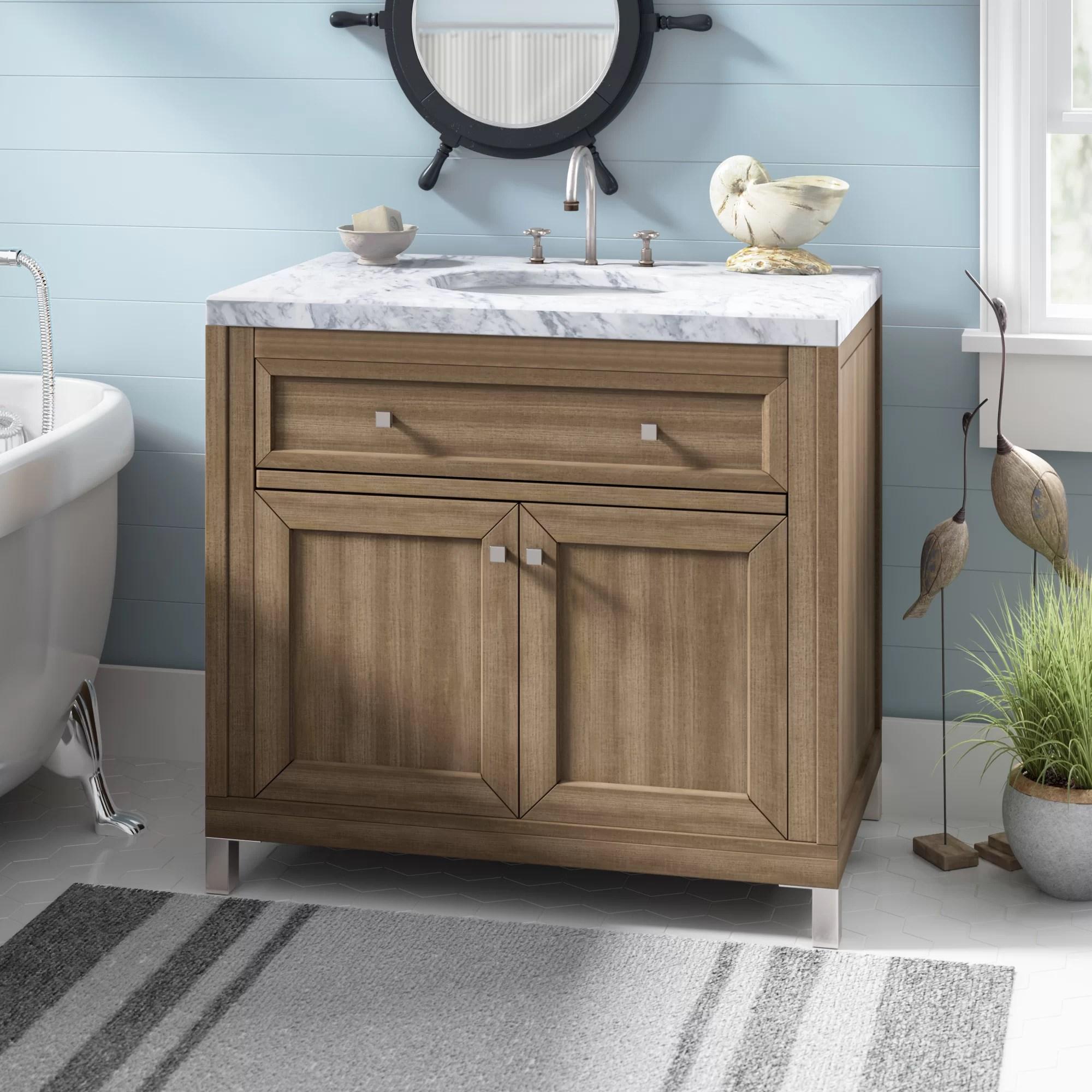 Brayden Studio Whitworth 36 Wall Mounted Single Bathroom Vanity Set