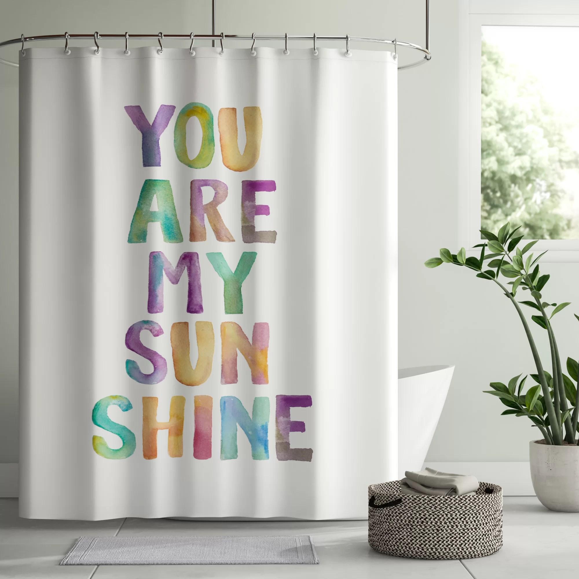 vandewa you are my sunshine single shower curtain