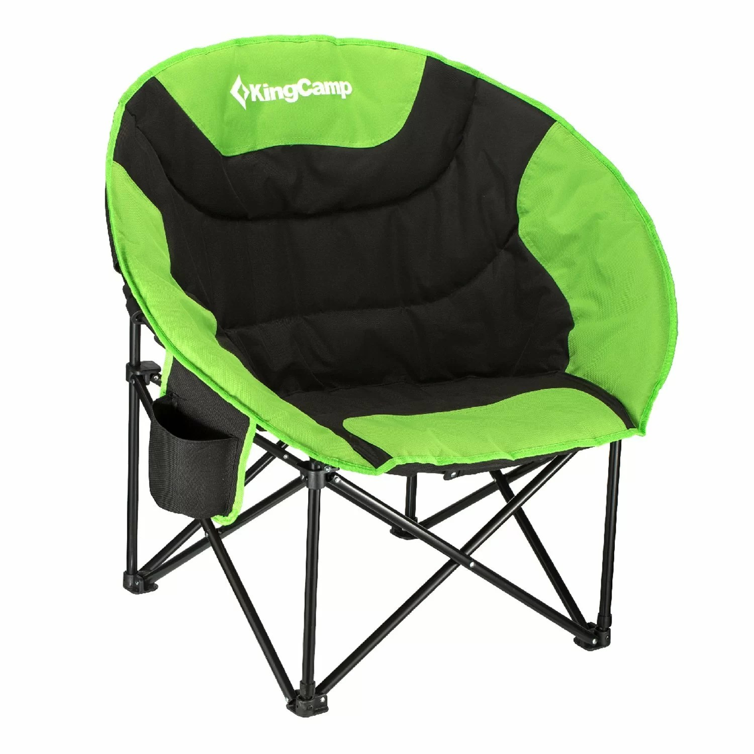 baby camp chair plastic rail kingcamp moon saucer folding camping with carry bag wayfair