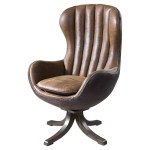 Trent Austin Design Bonview 30 25 W Tufted Faux Leather Swivel Wingback Chair Reviews