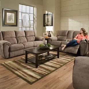 recliner living room set simple wall decoration ideas for reclining sets you ll love genevieve configurable