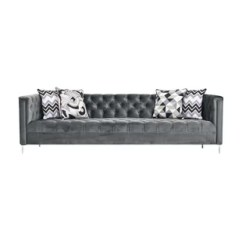 Glam Sofa Set Dark Brown Hollywood Wayfair Chesterfield