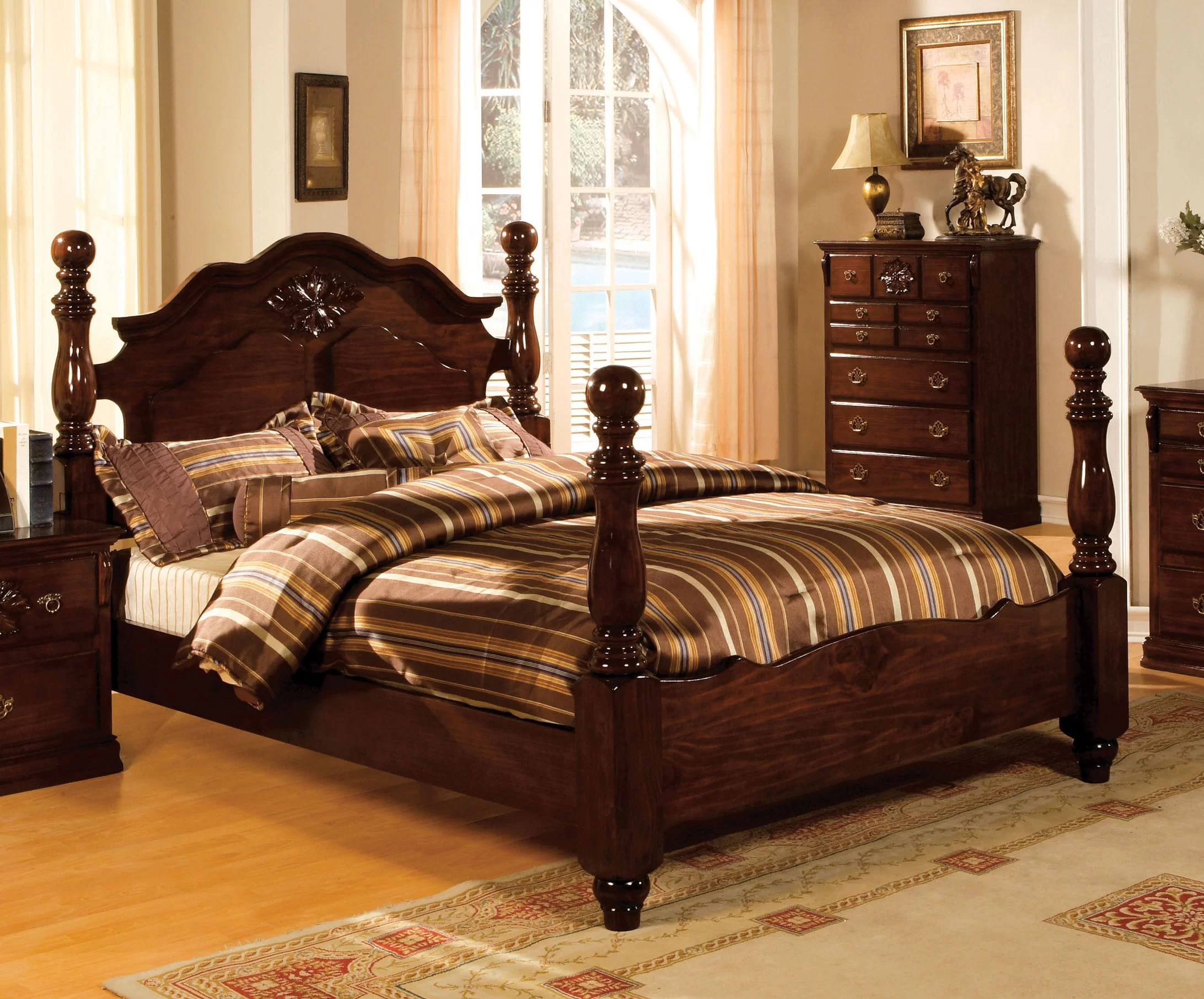 Darby Home Co Edyth Low Profile Four Poster Bed Reviews Wayfair